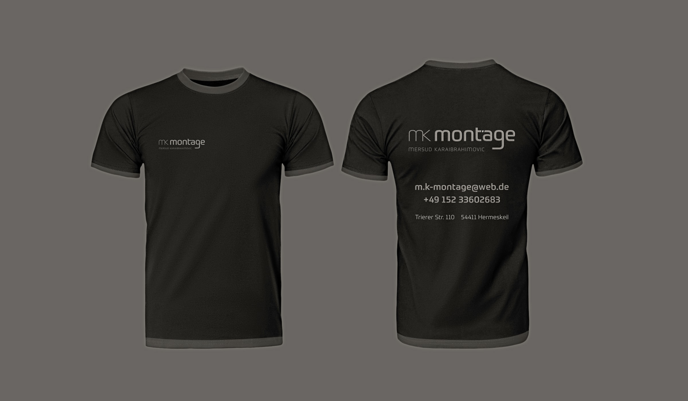 Konzeptarbeit ~ Corporate Design ~ T-Shirts // mk montage