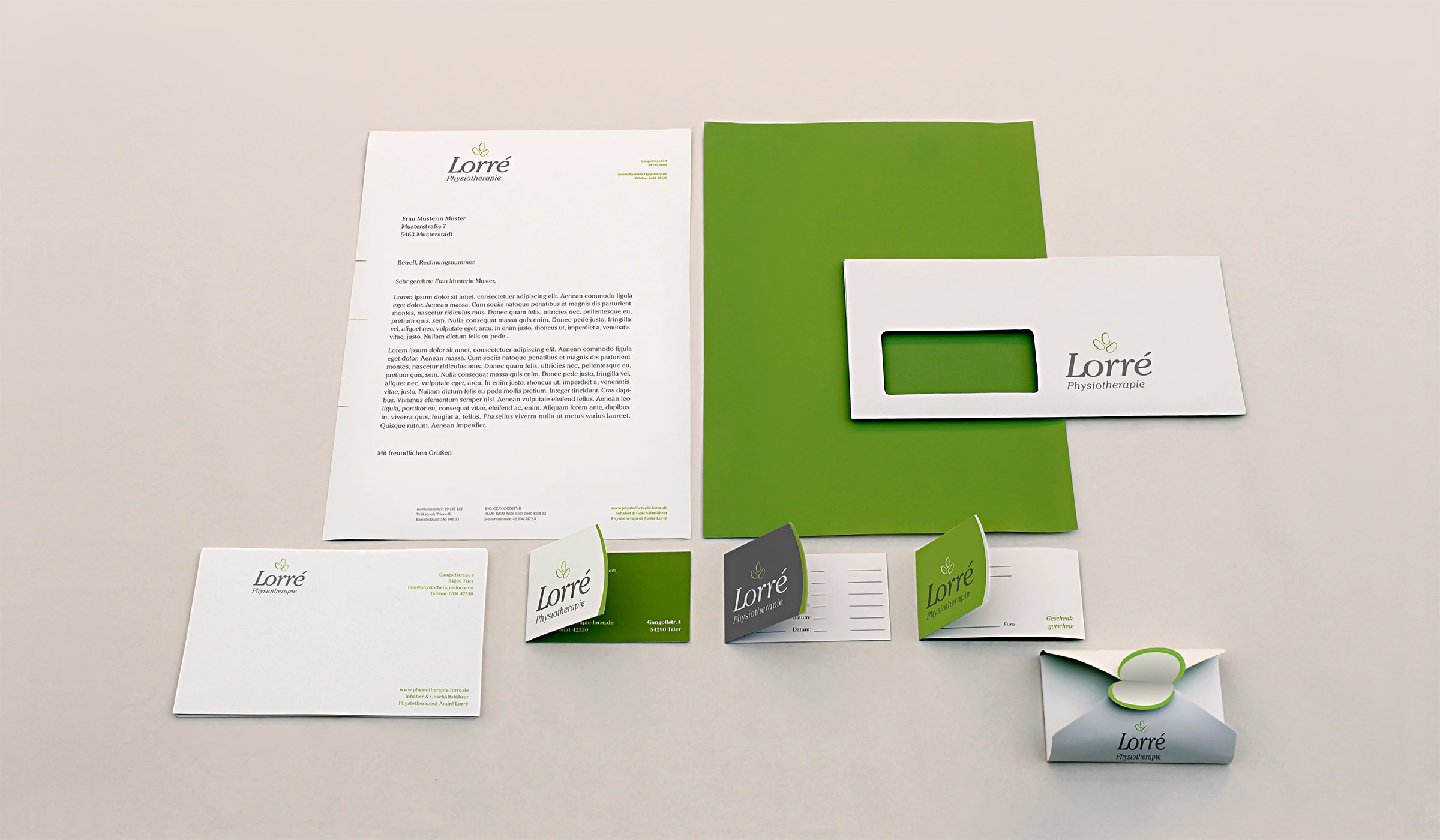 Konzeptarbeit ~ Corporate Design // Physiotherapie Lorré