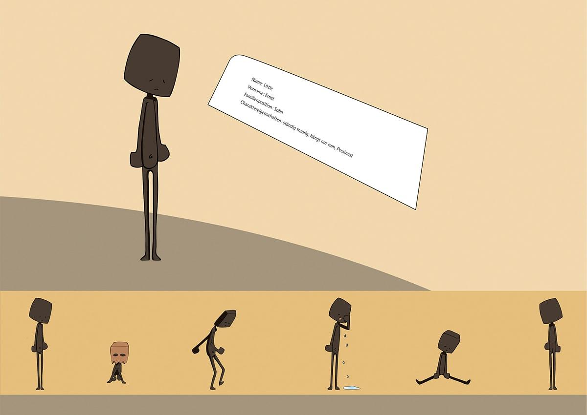 Charakterdesign und Packaging Design The Littles, ein Eigenprojekt der Werbeagentur mieker - Konzept Design Strategie. Plakat Sohn Ernst.