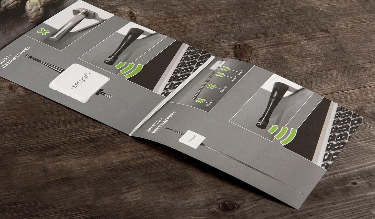 Konzeptarbeit ~ Corporate Design ~ Imageflyer // sesyco // Branding // sesyco – eine Marke der Rms.lu S.A.