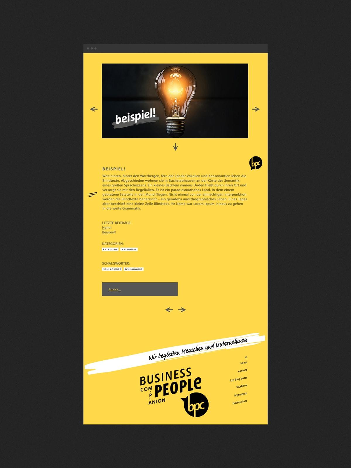 Screendesign/ Webdesign für eine Unternehmensberatung mit Firmensitz in der Region Trier/ Luxembourg. Layout für die Blogbeiträge Text und Bild. Eine Konzeption der Designagentur mieker - Konzept Design Strategie. Leistungen: Kommunikationskonzept, Corporate Website, Screendesign, Webdesign, UX Design, Printdesign, Corporate Design und Logodesign.