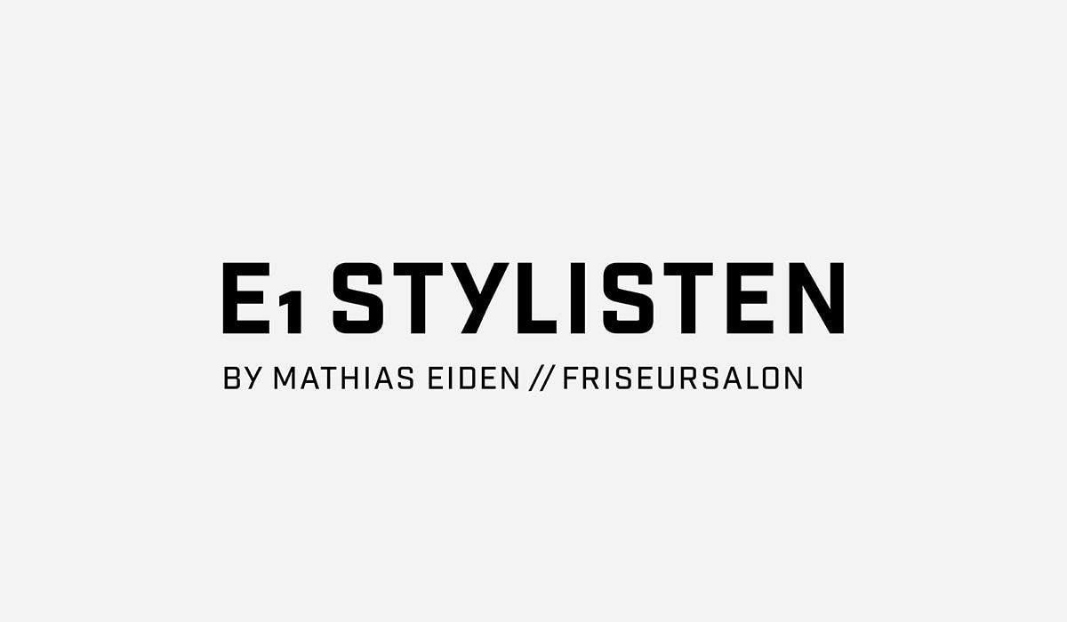 Konzeptarbeit ~ Logodesign // Logodesign für E1 Stylisten // Logogalerie/ KERSTIN MICHELS – DESIGN/ Designagentur/ Werbeagentur/ Grafikdesign/ Kommunikationsdesign/ Hermeskeil/ Hochwald/ Trier/ Rheinland-Pfalz/ Werbung/ Design