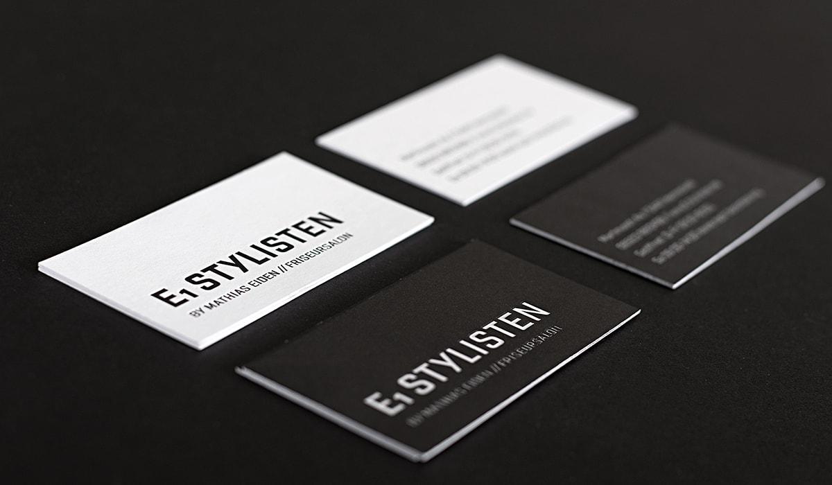 Logodesign/ Logogalerie/ Brand Design // Konzeptarbeit ~ Corporate Design // E1 Stylisten/ KERSTIN MICHELS – DESIGN/ Designagentur/ Werbeagentur/ Grafikdesign/ Kommunikationsdesign/ Hermeskeil/ Hochwald/ Trier/ Rheinland-Pfalz/ Werbung/ Design