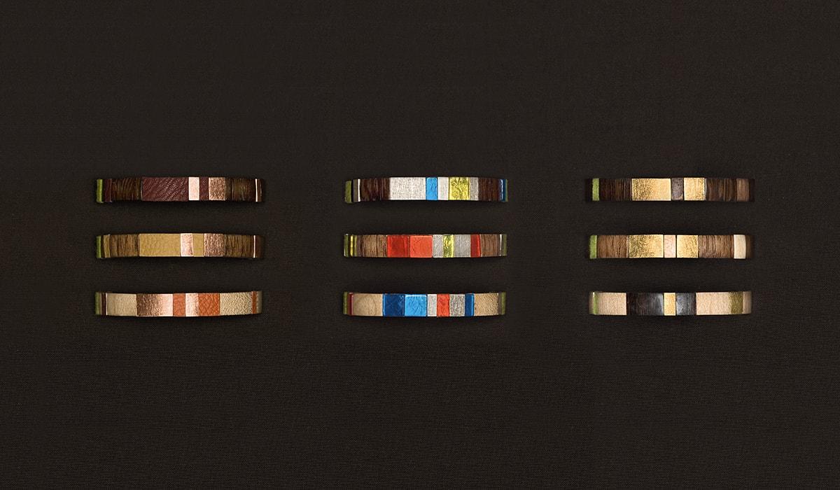 Konzeptarbeit ~ Produktentwicklung & Vermarktung ~ Produktdesign ~ Einsatzringe // Die Einsatzringe von dalarna zeigen sich in drei verschiedenen Kategorien – natürlich/ schlicht, bunt/ kontrastreich und edel/ schick // dalarna // Branding/ Brand Design/ Corporate Design/ Logo/ KERSTIN MICHELS – DESIGN/ Designagentur/ Werbeagentur/Grafikdesign/ Kommunikationsdesign/ Hermeskeil/ Hochwald/ Trier/ Rheinland-Pfalz/ Werbung/ Design
